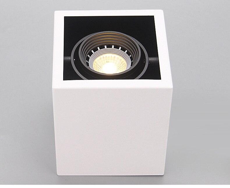 Luzes de teto led único ponto lâmpadas