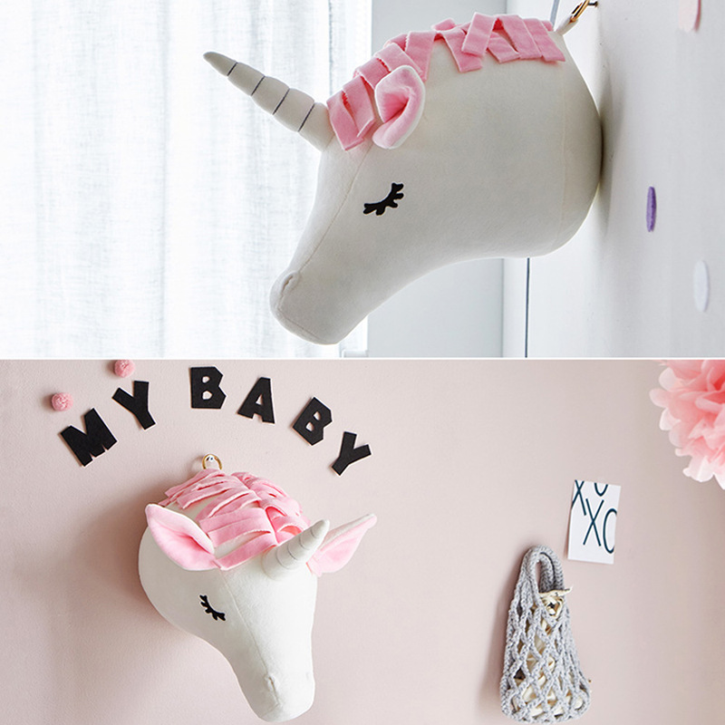 Image 4 - Elephant Pillow Baby Room Decoration Plush Toys Infant Kids Rabbit Baby Bedding sleep toys doll Boy bunny baby room wall hangingPillow   -