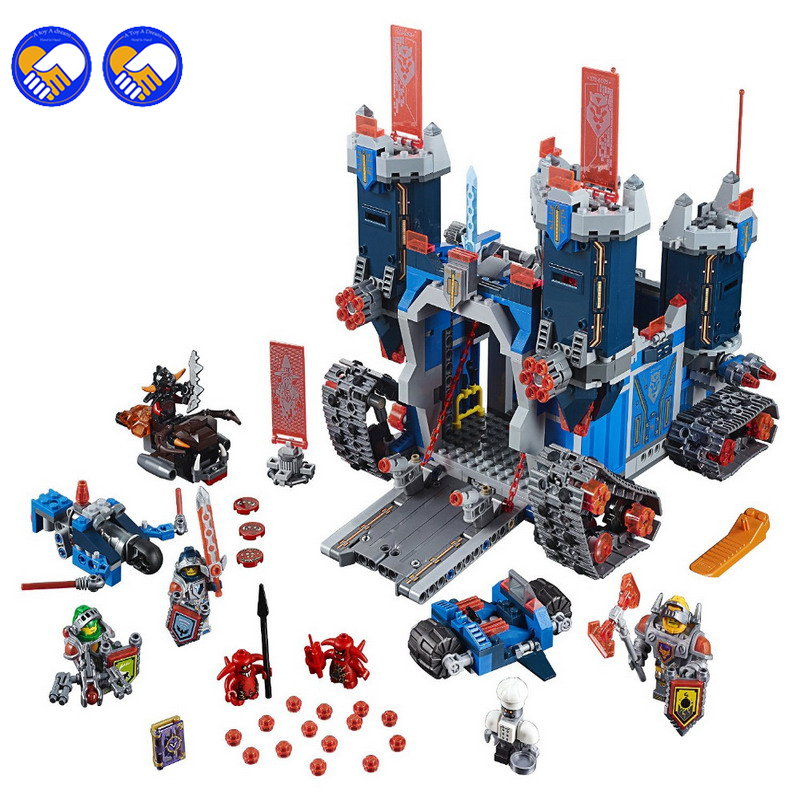 A toy A dream 2017 New Model 1240 Pcs Nexus Knights The Fortrex Castle Building Block Clay Aaron Fox Axl Compatible Bricks Toy цены онлайн