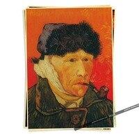 Vincent Willem van Gogh  self-portrait Vintage Brown Kraft Paper Movie Poster Decor 42*30 CM Wall Sticker Bar Cafe Living Room