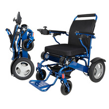 D09 hight quality  lightweight Portable Load bearing 180kg outdoor folding lithium battery Electric Wheelchair