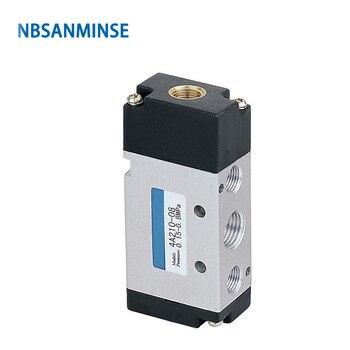 цена на NBSANMINSE 4A210 M5 1/8 1/4 3/8 1/2 Pneumatic Control Valve  Pneumatic Air Valve AIRTAC 4V series Design