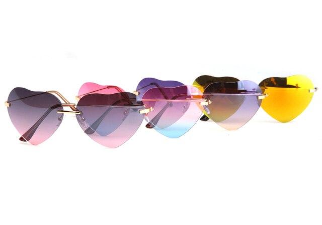 Amor requintado óculos de sol da moda, estrela cadente rua óculos de coração pêssego, venda coração-em forma de óculos de sol