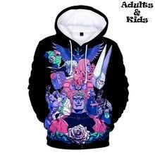 JOJO аниме принт 3D модная толстовка с капюшоном повседневное удобные Родитель Ребенок толстовки пуловеры для женщин Hipster Осень/Зима Дети