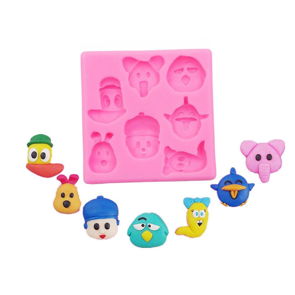 Torturi de fondant Unelte pentru decorarea personajelor de desene animate personaj mic animal zahăr tort mucegai ciocolată săpun desert bricheta Die