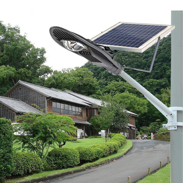 Wholesale 16w LED Solar Powered Panel Street Light Path Lighting Outdoor Garden Night Lamp