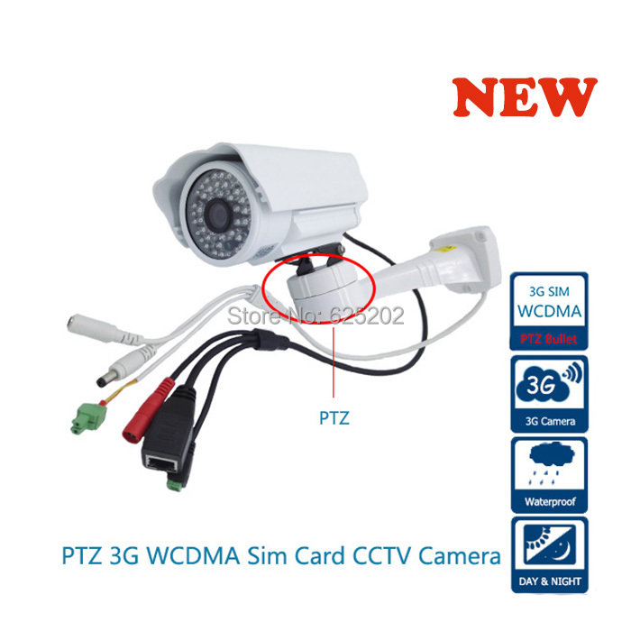 Pan Tilt PTZ 3G Sim Card Network WirelessCamera System Support SD Card Control by iphone Android System simcom 5360 module 3g modem bulk sms sending and receiving simcom 3g module support imei change