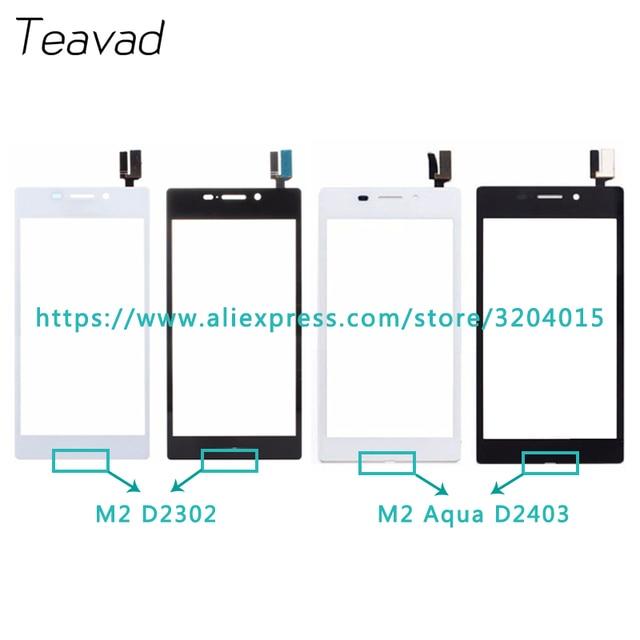 "10pcs 4.8"" For Sony Xperia M2 S50H D2302 D2305 and M2 Aqua D2403 Touch Screen Digitizer Sensor Outer Glass Lens Panel"