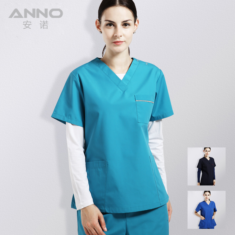 ANNO Medical Clothing Hospital Nursing Uniform For Women And Men Include Top And Pant Beauty Salon Work Wear Dental Scrubs(China)