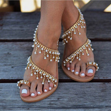 OLOMM Summer Sandals Fashion Bohemian Ladies Sandals 2019 Summer Women's Shoes Wedge Shoes flat sandals gladiator sandals women bohemian sandals for women wedge shoes crystal decoration grey army green shoes ladies cute casual shoes rhinestone sandals