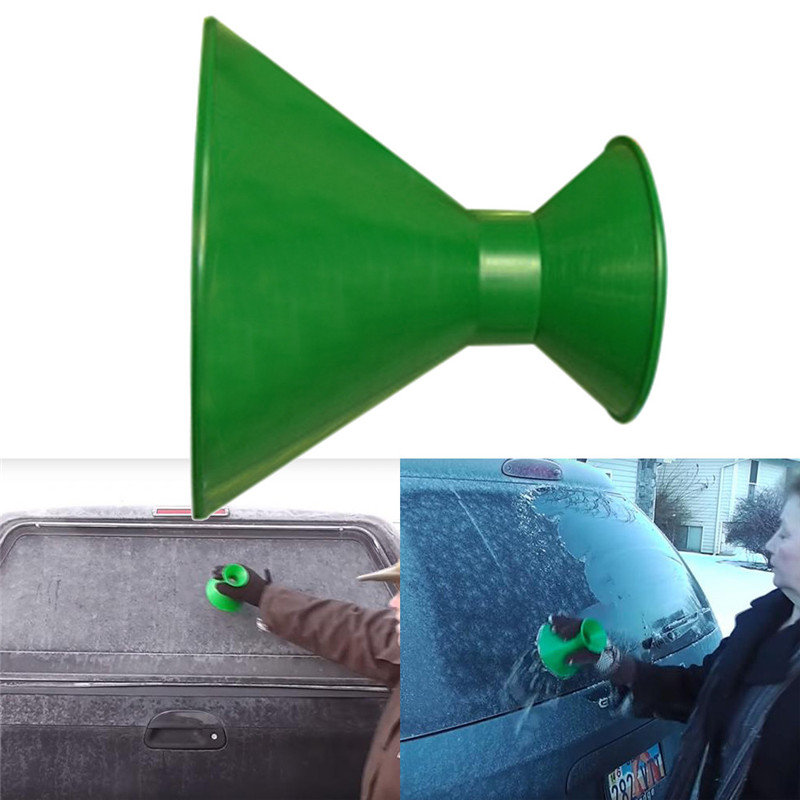 Windshields Scrape-around Magic Cone-Shaped Ice and Snow Scraper Funnel Shovel Tool