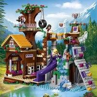 Bela 10497 Friends Adventure Camp Tree House Building Block Brick Set Stephanie Emma Joy Figures Girls