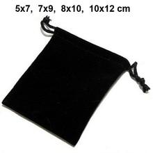100pcs/lot 5x7, 7x9, 8x10, 10x12cm Drawstring Velvet Bags &a