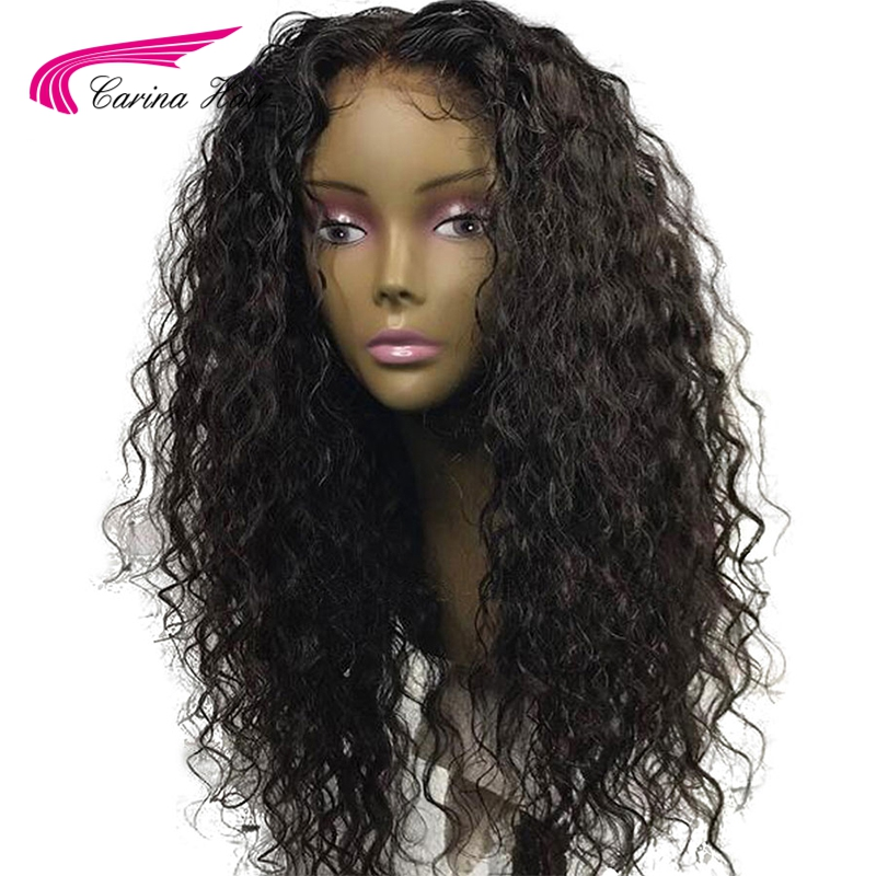 Carina 13 6 Lace Front Human Hair Wigs with Baby Hair Brazilian Kinky Curly Remy Hair