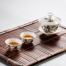 Gai wan de alta Calidad juego de té de Porcelana Juegos De Té de porcelana tetera juego de té de viaje Hermoso y fácil hervidor de agua con 2 tazas