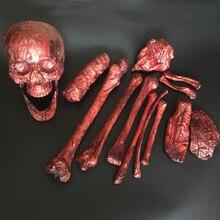 Хэллоуин гниения пластиковые кости жизнь Размеры Bones 14 шт. для побег дом Хеллоуин реквизит Хеллоуина
