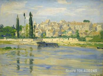 Christmas Gift art on Canvas Carrieres Saint Denis by Claude Monet Painting High Quality Handmade