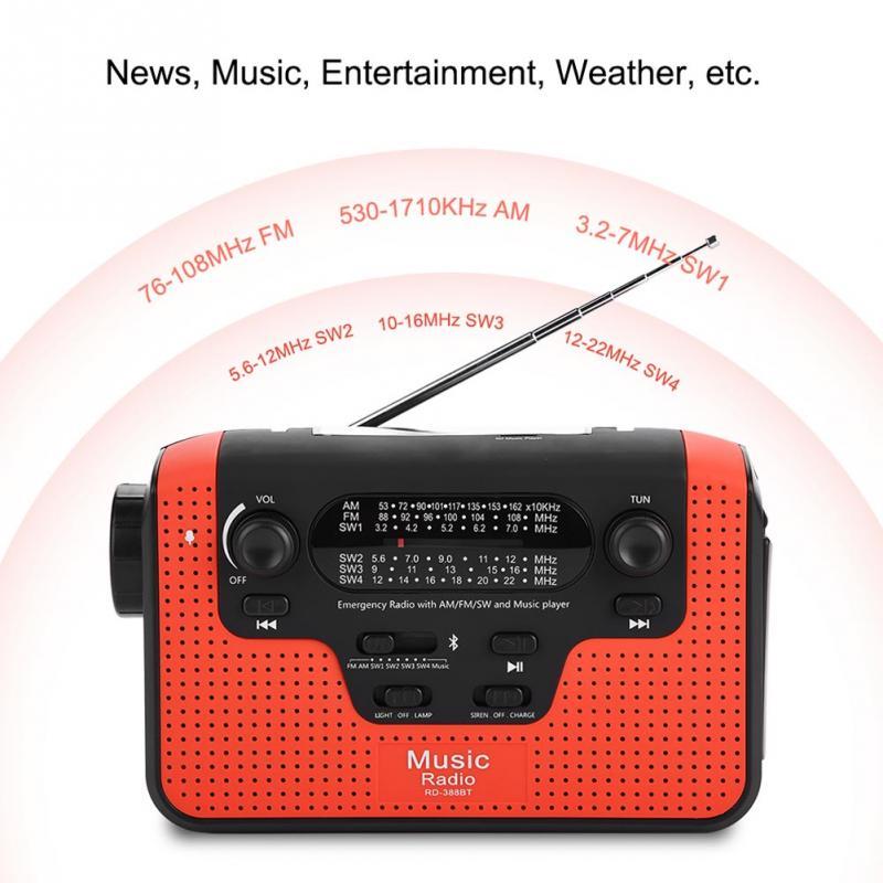 Unterhaltungselektronik Vbestlife Fm Radio Fm/am/sw Solar Handkurbel Radio Tf Musik Bluetooth-freisprecheinrichtung Call Solar Fm Radio