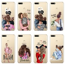 Black girl Baby Women Mom Phone Case For Huawei Honor 8X MAX 7S 7X 7A 7C Pro Soft Silicone Back Cover For Honor 8 9 10 Lite Case(China)