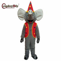 CosplayDiy Adult Unisex Mascot Costume Popular Elephant Mascot Costumes Cosplay For Halloween Christmas Party Custom Made