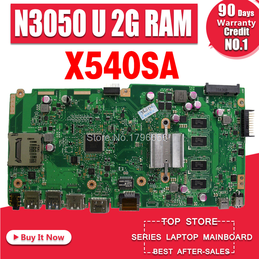 X540SA Laptop <font><b>motherboard</b></font> for <font><b>ASUS</b></font> VivoBook X540SA X540S <font><b>X540</b></font> F540S Test original mainboard 2GB RAM N3050 N3060 CPU image