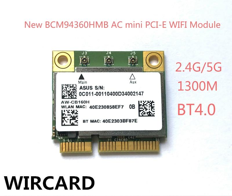 WIRCARD AW-CB160H Broadcom 802 11AC BCM94360HMB 1300 150mbps Wireless WIFI  WLAN Bluetooth 4 0 Mini