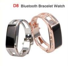 6Pcs/Lot, DHL Free Ship Fashion Vibrating D8 Metal Bluetooth Smart Bracelet Watch 0.91″ OLED Screen Pedometer Remote Camera