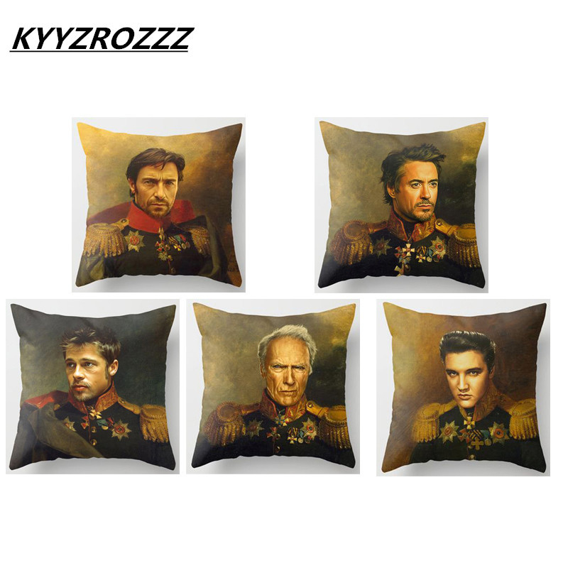 Celebrities Replaceface Paintings Cushion Covers David Bowie Keith Richards Gary Barlow Pillow Cover Sofa Seat Linen Pillow Case