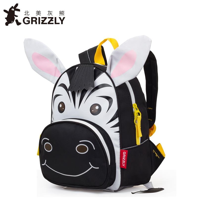 5361dd45a6 GRIZZLY 2017 Cute Kid Toddler School Bags Backpack Kindergarten School Bag  3D Cartoon Animal Bag-in School Bags from Luggage   Bags on Aliexpress.com  ...