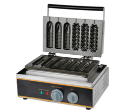 Free shipping 110v 220v mixture type corn waffle maker and hot dog waffle maker