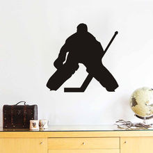 Home Decal Ice Hockey Player Silhouette Wall Sticker Removable Vinyl Mural Decorative W-86