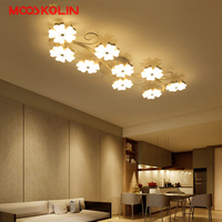 2018 Post Modern Dimmable Acrylic Plum Led Chandelier Lustre Luminaire Chandelier Lighting Living Room Fixutres Ceiling