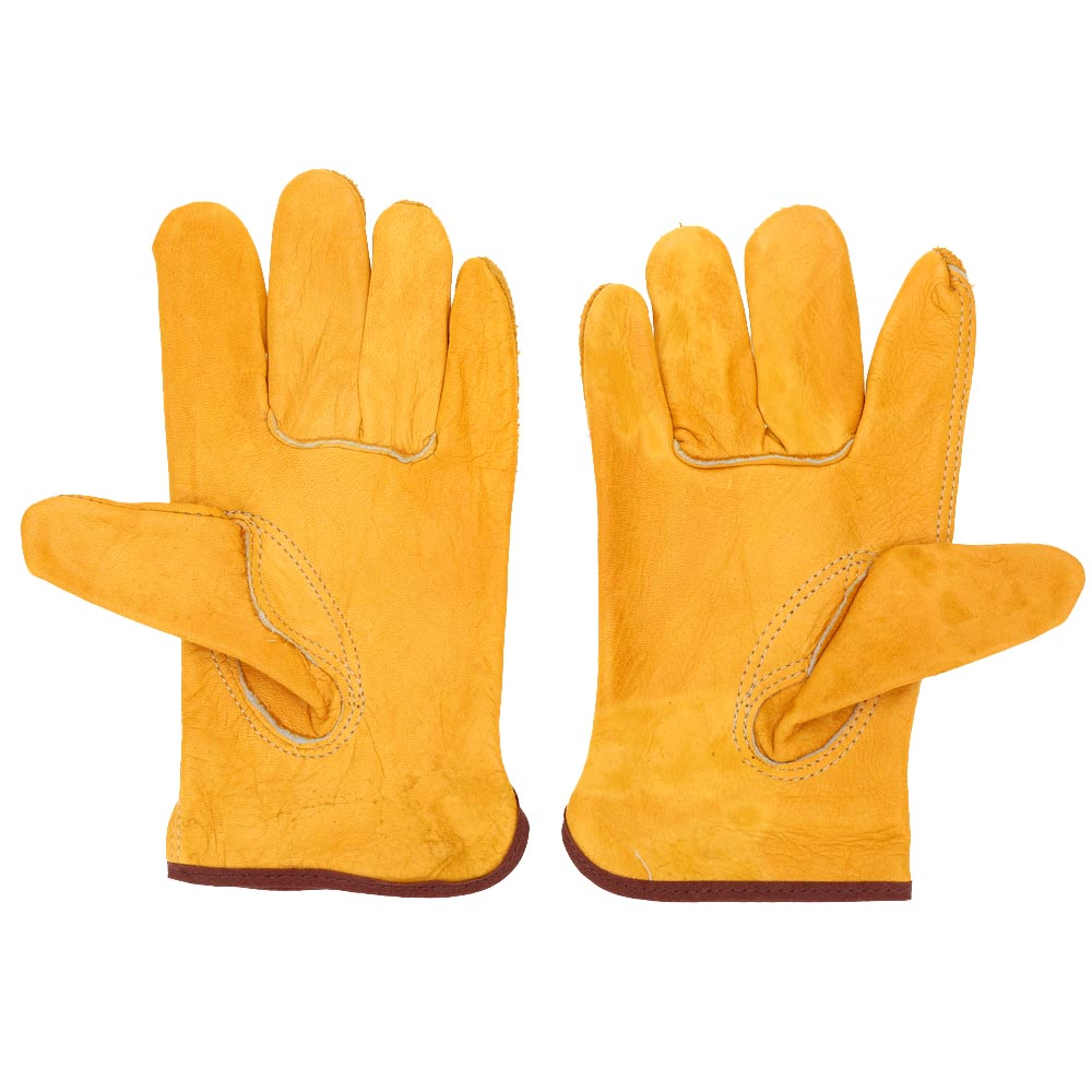 Leather work gloves best price - 2pcs Pair Industrial Working Protection Leather Safety Gloves Working Driving Gloves Short Sleeve China