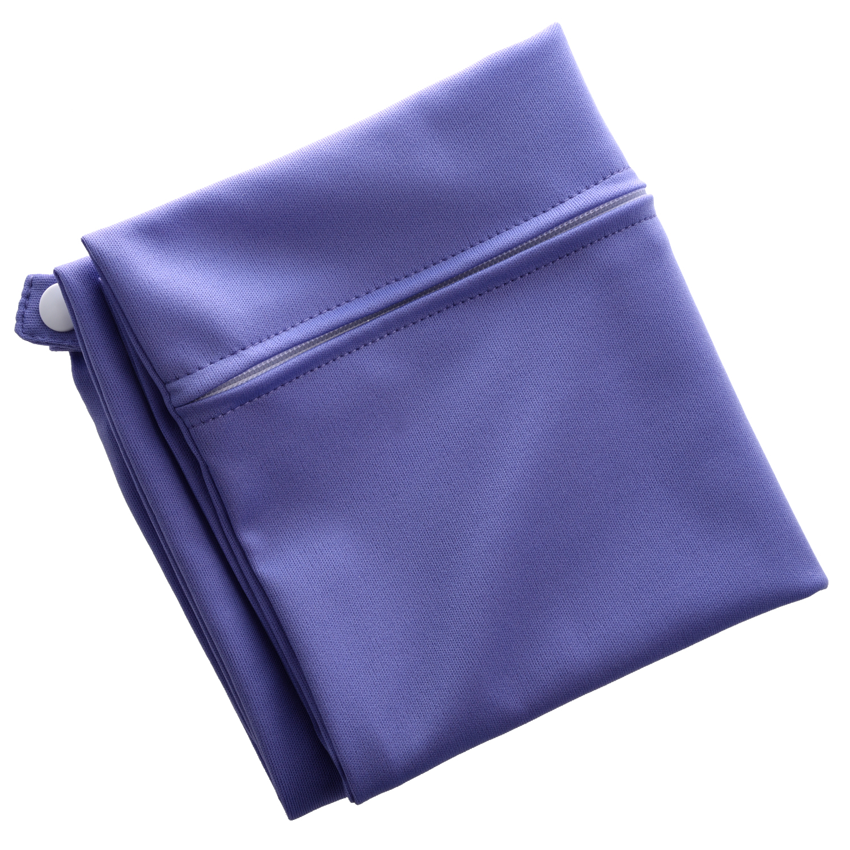 Waterproof Zippered Pocket Washable Reusable Baby Cloth Diaper Bag Purple