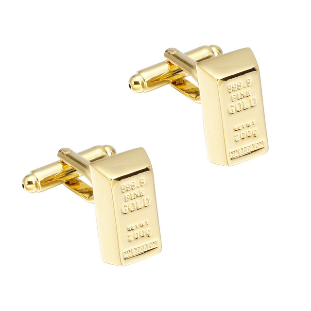 Memolissa Luxury Gold Shirt Cufflinks Mens Cuff Buttons Links High Gemelos Abotoaduras