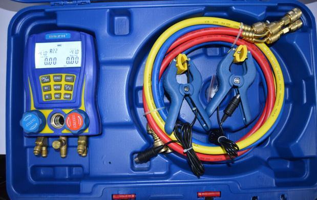 WK-6889 Electronic Fluoride Meter Digital Display Refrigeration Manifolds Gauge Vacuum Pressure Manomete Compressor Tool Gauge structures on complex manifolds