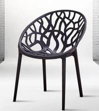 Plastic dining chair. Can be stacked. The home is back chair.. Negotiate chair. Hotel office chair.(China)