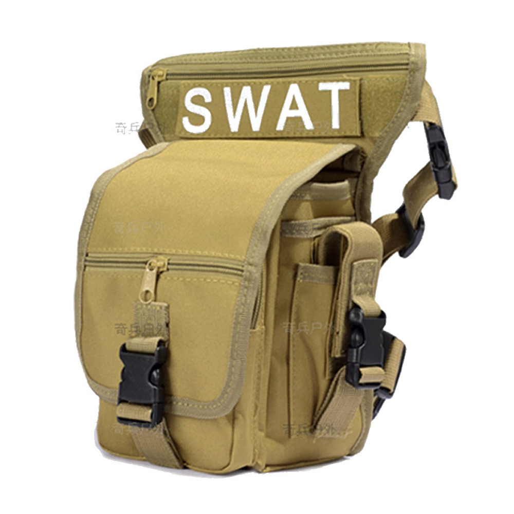 Men Waist Bags With Belt Camouflage Waterproof Nylon Tool Pack Tactics Man Leg Bags Travel Motorcycle Fanny Pack Thigh Drop Bag
