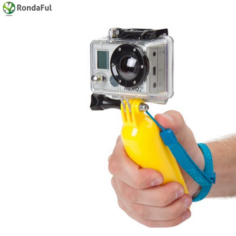 गोबर के लिए बोबेर फ्लोटिंग हैंडहेल्ड मोनोपॉड HERO 4 3 3 2 1 SJCAM SJ4000 Xiaoyi Action Camera Soprts Mini DV