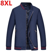 Big Size spring plus size 8XL 7XL 6XL cardigan jacket male fat loose casual outerwear Men's thin large code collar jacket men