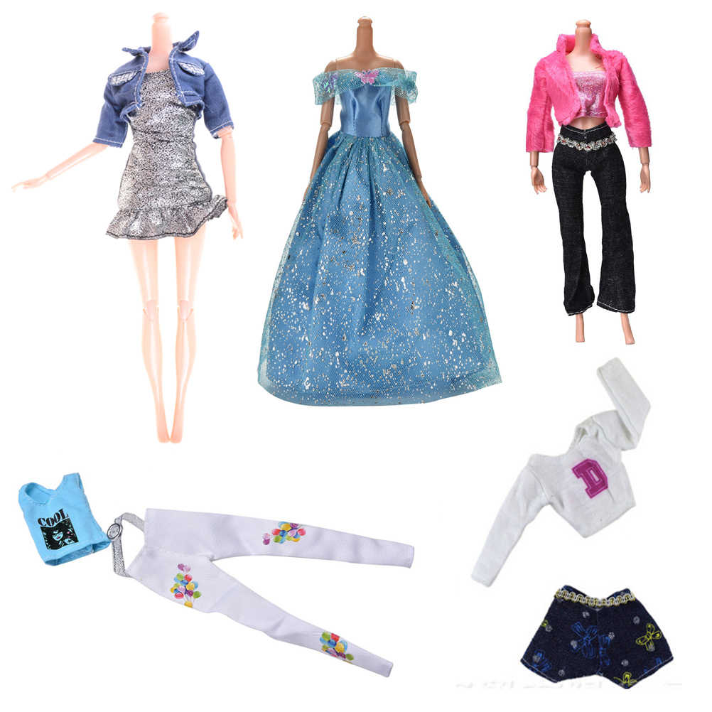 1set Fashion Handmade Clothing Sets Dress skirt Coat Pant Vest Casual Suits For for   Doll Best Gift Toys