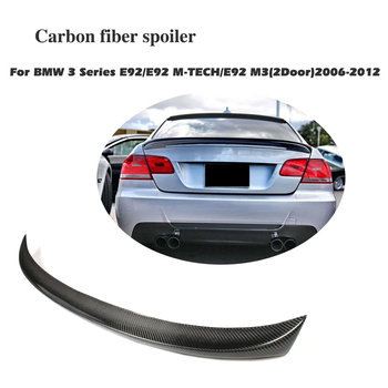 Carbon Fiber Rear Trunk Lip Spoiler Boot Wing For BMW 3 Series E92 Coupe M3 2006-2012 Car Styling image