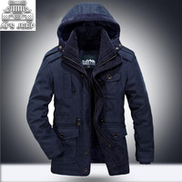 Winter 30 Degree Snow Warm Thick Men Parkas POLYESTER SHERPA AFS JEEP Mens Jackets and Coats chaquetas hombre Cotton Liner