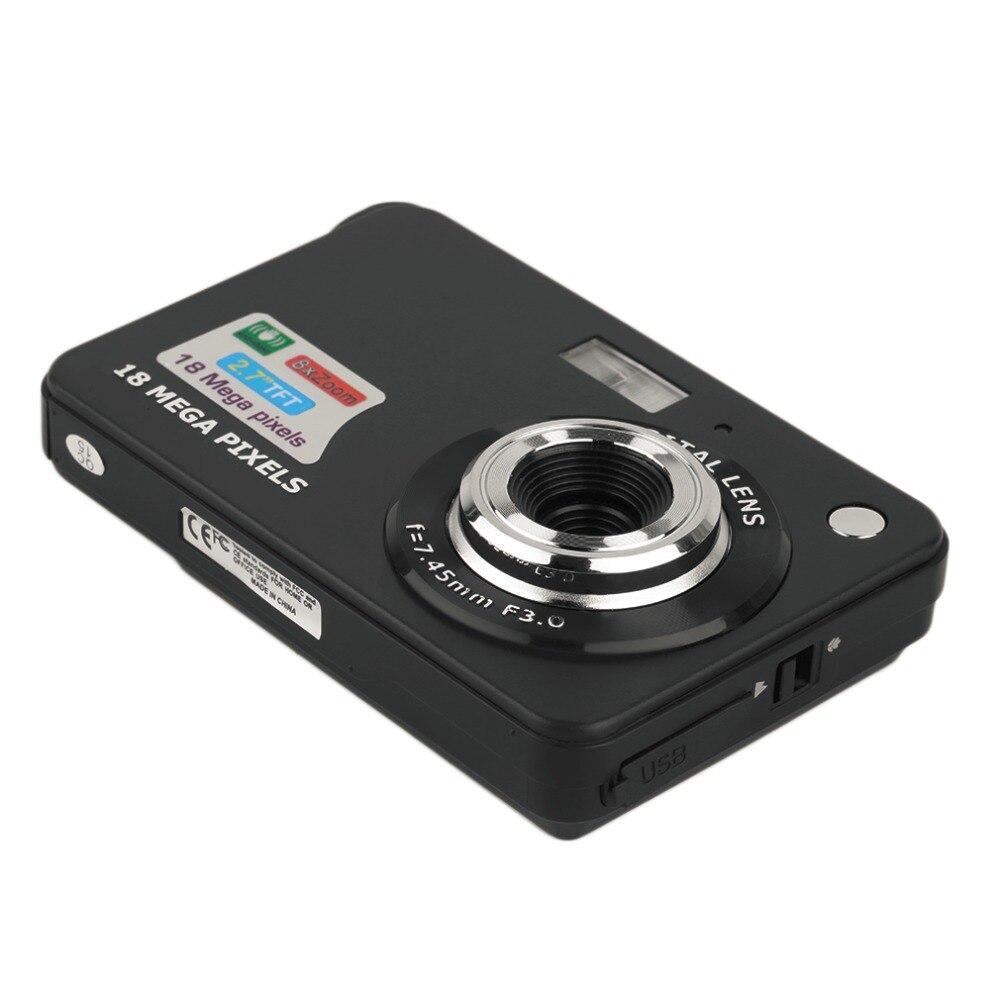 Caméra numérique HD TF carte JPEG AVI CMOS Senor 2.7 ''TFT LCD HD 720 P 18MP caméscope numérique caméra 8x Zoom Anti-secousse Mini caméra