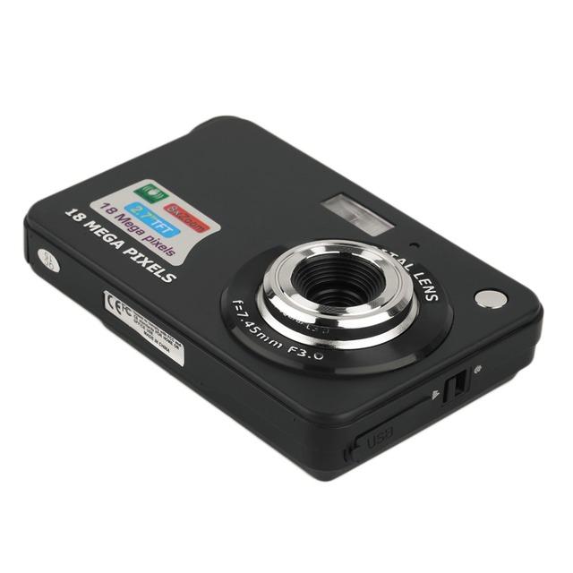 "HD Digital Camera TF Card JPEG AVI CMOS Senor 2.7"" TFT LCD HD 720P 18MP Digital Camcorder Camera 8x Zoom Anti-shake Mini Camera"