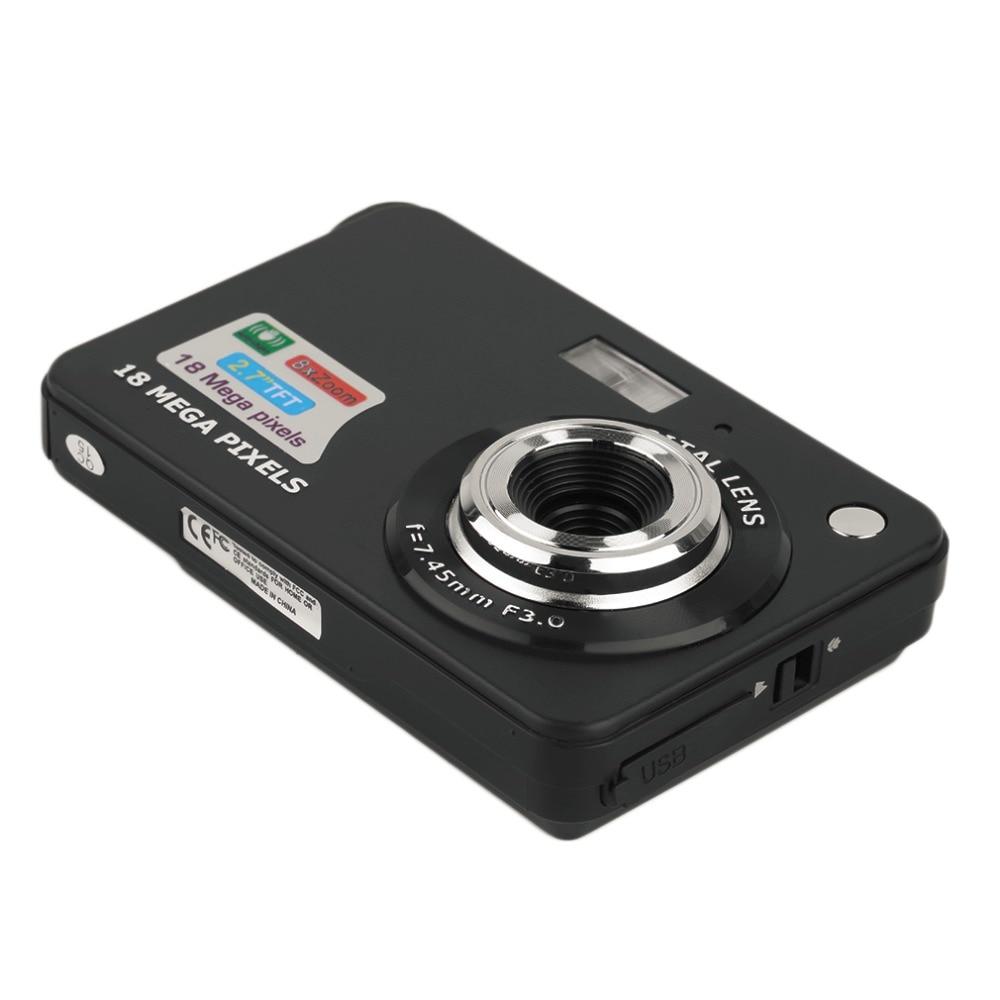 HD Numérique Caméra TF Carte JPEG AVI CMOS Senor 2.7 ''TFT LCD HD 720 p 18MP Numérique Caméscope Caméra 8x Zoom Anti-shake Mini Caméra