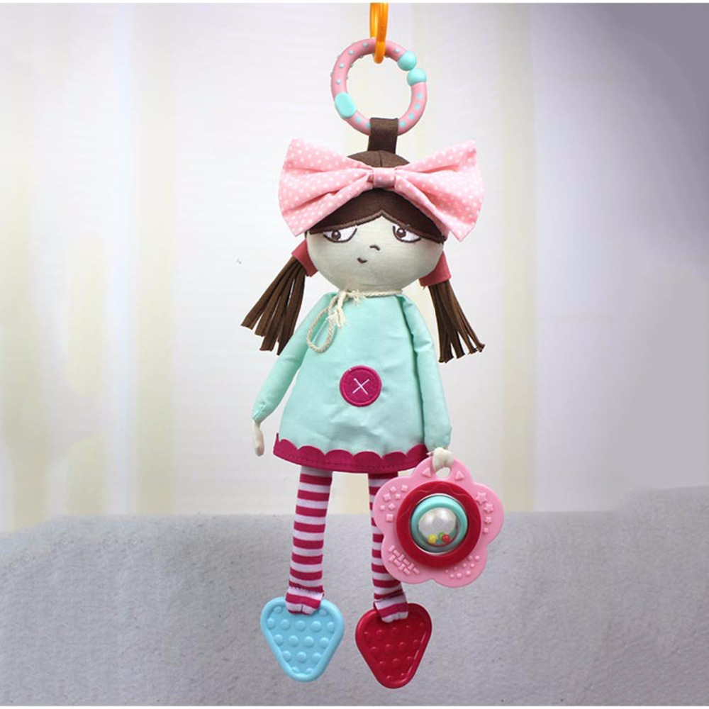 Baby Toy Developmental Infant Mobile In the Crib Musical Rattle Baby Rattles Doll Plush Toy Hanging In The Stroller