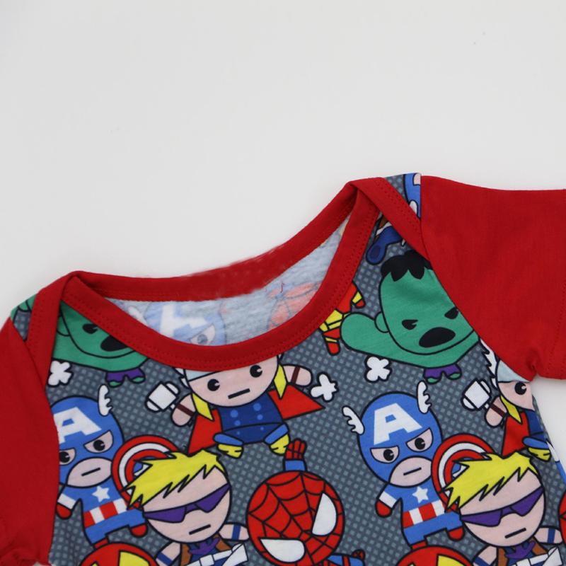 27e8b929f 2018 Baby Bodysuit Tiny Cottons Red Short Sleeves Superhero Baby Boy ...