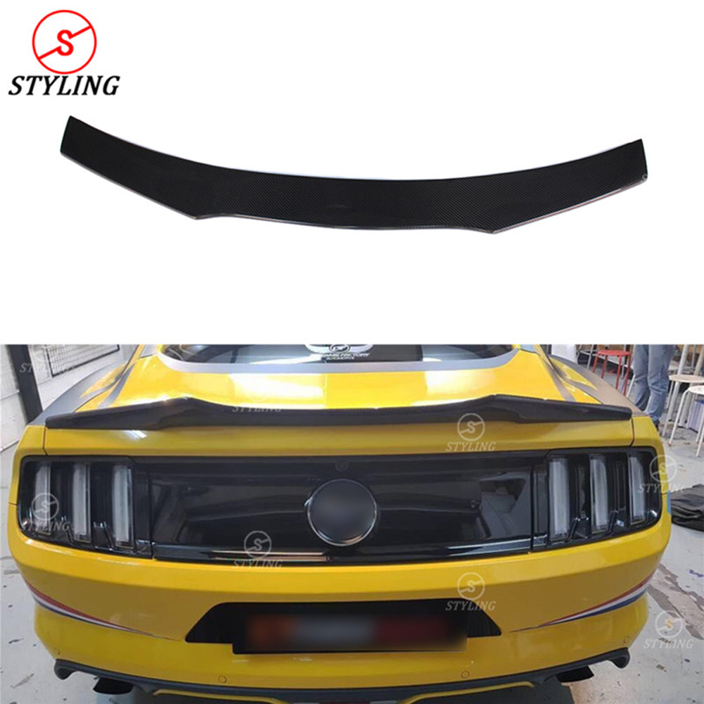 Tt Style Carbon Fiber Rear Spoiler For 2015 2019: Carbon Trunk Spoiler A Style For Ford Mustang Coupe Carbon