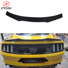 Carbon trunk Spoiler A Style For Ford Mustang Coupe Carbon Fiber rear spoiler Rear Bumper wing 2015 2016 2017 2018 2019 carbon fiber frp car rear wing trunk lip double deck spoiler for ford mustang 2015 2016 2017 2018 2019